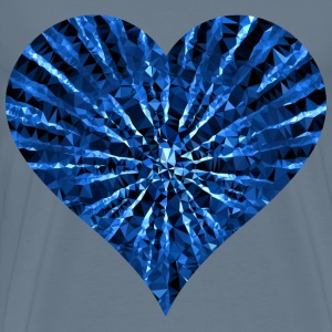 Low Poly Shattered Heart Blue - Men's Premium T-Shirt