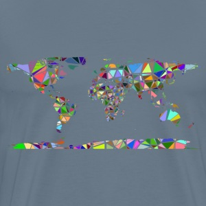 Low Poly Shattered World Map No Background - Men's Premium T-Shirt