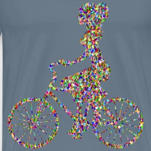 Chromatic Bejeweled Girl On Bike - Men's Premium T-Shirt