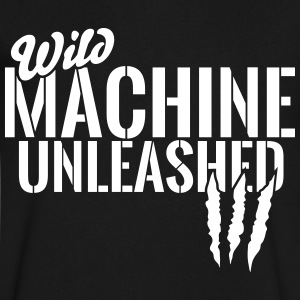 wild machine unleashed T-Shirts - Men's V-Neck T-Shirt by Canvas