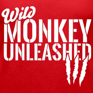 wild monkey unleashed Tanks - Women's Premium Tank Top