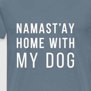 NAMASTY home with dog T-Shirts - Men's Premium T-Shirt