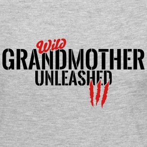 wild grandmother unleashed Long Sleeve Shirts - Women's Premium Long Sleeve T-Shirt
