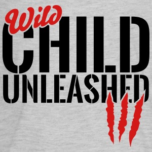 wild child unleashed Kids' Shirts - Kids' Premium Long Sleeve T-Shirt