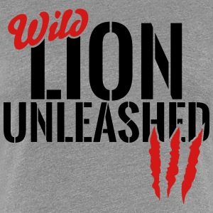 wild lion unleashed T-Shirts - Women's Premium T-Shirt