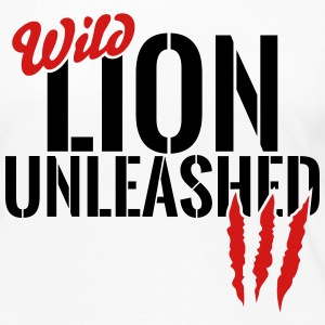 wild lion unleashed Long Sleeve Shirts - Women's Premium Long Sleeve T-Shirt