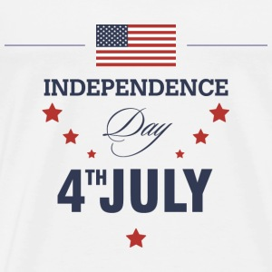 July 4th - Happy Independence Day T-shirts - T-shirt premium pour hommes