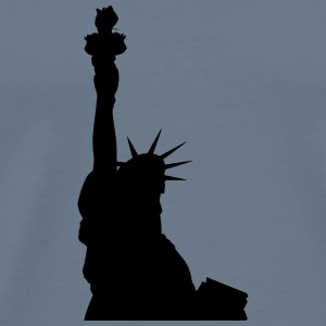 Statue of Liberty (silhouette) - Men's Premium T-Shirt