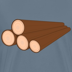 A pile of logs - Men's Premium T-Shirt