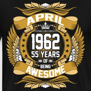April 1962 55 Years Of Being Awesome T-Shirts - Men's Premium T-Shirt
