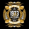 April 1973 44 Years Of Being Awesome T-Shirts - Men's Premium T-Shirt