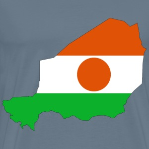 Niger Flag Map With Stroke - Men's Premium T-Shirt