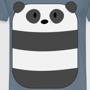 Curved Cute Minimal Panda Bear - Men's Premium T-Shirt