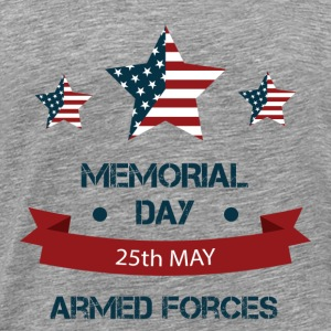 US Memorial Day - Honoring all who served. T-Shirts - Men's Premium T-Shirt