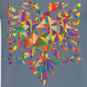 Polyprismatic Low Poly Double Headed Eagle - Men's Premium T-Shirt