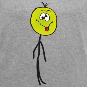 Sick stickman T-Shirts - Women´s Roll Cuff T-Shirt