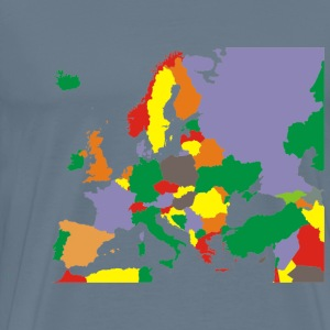Political Map Of Europe Restored - Men's Premium T-Shirt
