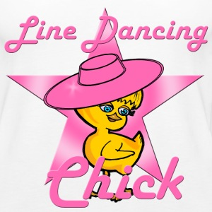 Line Dancing Chick Pink Tanks - Women's Premium Tank Top