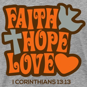 Faith Hope Love T-Shirts - Men's Premium T-Shirt
