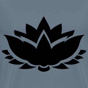 Lotus Flower Silhouette - Men's Premium T-Shirt