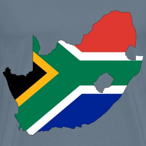 South Africa Flag Map With Stroke - Men's Premium T-Shirt