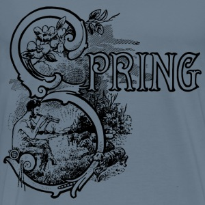Spring Text - Men's Premium T-Shirt