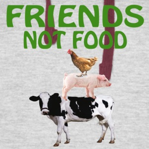 FRIENDS NOT FOOD - Colorblock Hoodie