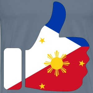 Thumbs Up Philippines With Stroke - Men's Premium T-Shirt