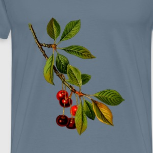 Sour cherry tree 2 (detailed) - Men's Premium T-Shirt