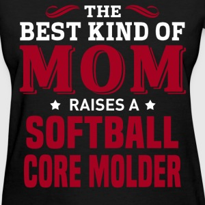 Softball Core Molder MOM - Women's T-Shirt