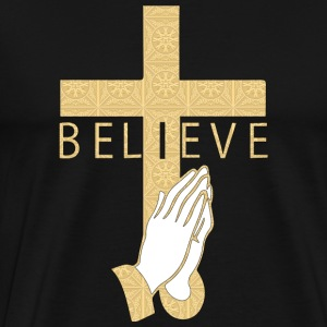 I believe in cross and pray T-Shirts - Men's Premium T-Shirt