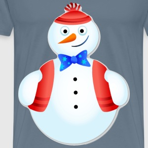 Upbeat Snow Man - Men's Premium T-Shirt