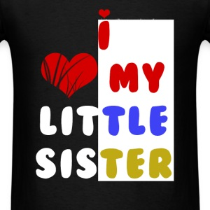 Sister - I love my little sister - Men's T-Shirt