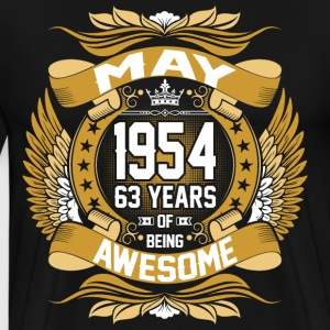 May 1954 63 Years Of Being Awesome T-Shirts - Men's Premium T-Shirt