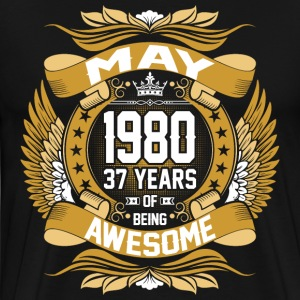 May 1980 37 Years Of Being Awesome T-Shirts - Men's Premium T-Shirt
