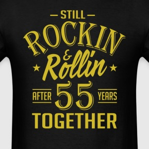 Anniversary 55 Years Together And Still Rockin And T-Shirts - Men's T-Shirt