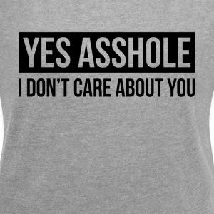 I DON'T CARE ABOUT YOU T-Shirts - Women´s Rolled Sleeve Boxy T-Shirt