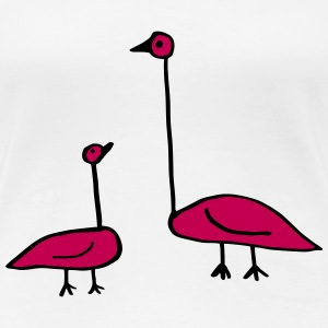 Doodle, Funny Birds, Baby and Parent T-Shirts - Women's Premium T-Shirt