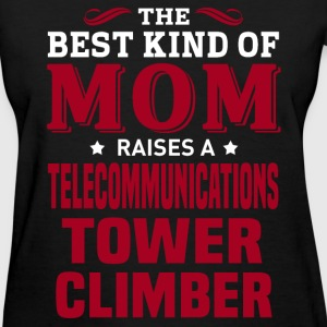 Telecommunications Tower Climber MOM - Women's T-Shirt