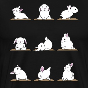 Funny Bunnies Yoga - Yoga Lover Shirt - Men's Premium T-Shirt