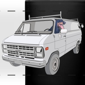 Van & Puppy - Mug - Full Color Panoramic Mug