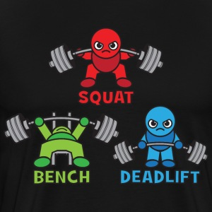 Kawaii Powerlifter - Squat, Bench Press, Deadlift T-Shirts - Men's Premium T-Shirt
