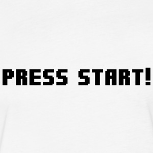 Press Start! T-Shirts - Fitted Cotton/Poly T-Shirt by Next Level