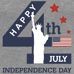 4th of July - Happy Independence Day T-shirts - T-shirt premium pour femmes