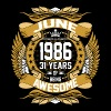 June 1986 31 Years Of Being Awesome T-Shirts - Men's Premium T-Shirt