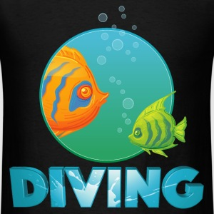 diving_fishes_holidays02 T-Shirts - Men's T-Shirt