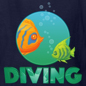 diving_fishes_holidays03 Kids' Shirts - Kids' T-Shirt