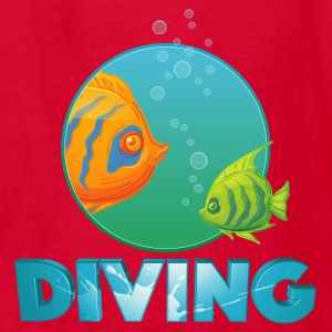 diving_fishes_holidays02 Kids' Shirts - Kids' T-Shirt