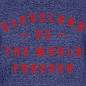 Cleveland Versus The World Forever FLOCK PRINT - M - Unisex Tri-Blend T-Shirt by American Apparel