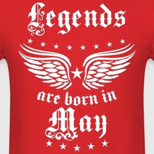 Legends are born May birthday Vintage sexy T-Shirt - Men's T-Shirt